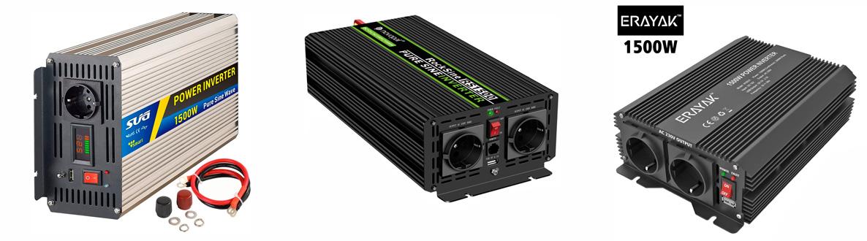 convertisseur transformateur onduleur 12v 220v 1500w