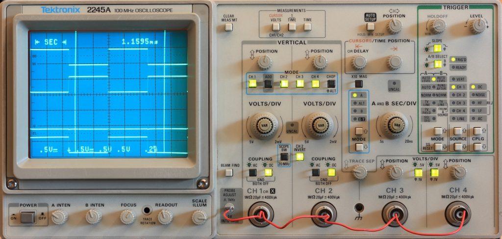 oscilloscope tecktronics